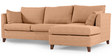 Farina LHS Sofa with Lounger in Camel Colour by Furny