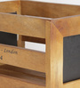 Fabuliv Mango Wood Black & Brown Basket with Chalk Board - Set of 4