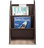 Faux Leather Magazine Rack in Brown Colour by Three Sixty Degree