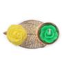 Festive Collection Multicolour Metal Fancy Carving Leaf Design Festive Rose Diya