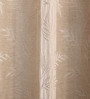 Fflaunt Beige Jacquard Beautiful Curtains - Set of 2