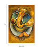 Fizdi Canvas 24 x 0.2 x 36 Inch Ganesha with Golden Dots Unframed Art Painting