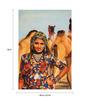 Fizdi Canvas 24 x 0.2 x 36 Inch Life of Rajasthan 1 Unframed Art Painting