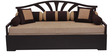 Flora Sofa cum Bed with 2 Pillows & 5 Bolsters in Brown Color by Auspicious Home