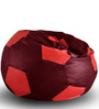 Football Bean Bag (Cover Only) XXL size in Maroon & Red Colour by Style Homez