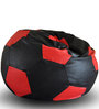 Football Bean Bag XXL size in Black & Red Colour with Beans by Style Homez