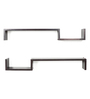 Forzza Wenge Engineered Wood Cooper Wall Shelves - Set of 2