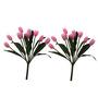 Fourwalls Pink Artificial Tulip Flower - Set of 2