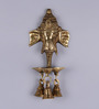 Frestol Golden Brass Ganesh Face Wall Hanging