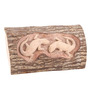 Furncoms Brown Wooden Two Lizard Wall Accent