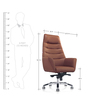 Futon Executive Chair in Brown Colour by Oblique