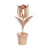 G n G 24K Gold Plated with Swarovski Crystals Tulip with Vase Showpiece