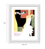 Gabambo Paper 12 x 1 x 14 Inch Vintage Vogue Magazine Cover 2 Wood Finish Framed Poster