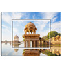 Hashtag Decor Gadi Sagar Temple Engineered Wood 27 x 20 Inch Framed Art Panel