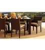 Cappuccino Four Seater Dining Set (1T + 4C) by GEBE