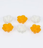 Ghidini White and Yellow Silicone Flower Muffin Mould - Set of 6