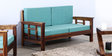 Glentana Two Seater Sofa in Provincial Teak Finish by Woodsworth