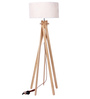 Glowbox Black Fabric Floor Lamp