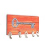 Go Hooked Red & Grey MDF Chabi Designer Lightweight Key Holder