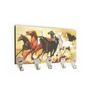 Go Hooked Multicolour MDF Horses Durable Key Holder