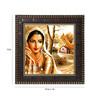 Go Hooked MDF 12 x 1 x 12 Inch Beautiful Girl Framed Art Print