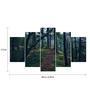Go Hooked MDF Walk in The Woods Framed Art Panel - Set of 5