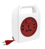 Goldmedal Sliq Red and White 10 Ampere 9.3 x 6.5 x 2 Inch 2-pin Extension Cord