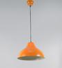 Grated Ginger Orange Metal Pendant