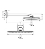 Hansgrohe Puravida White Metal 9.8 x 5.9 x 4.7 Inch Overhead Shower