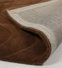 HDP Brown Wool 80 x 56 Inch Indian Hand Carved Tufted Carpet