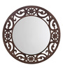 Height of Designs Brown Engineered Wood Eclectic Mirror