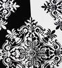 Heritagefabs Black & White Cotton Diwan 8-piece Set