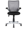High Back Ergonomic Chair in Grey Back Rest by Parin