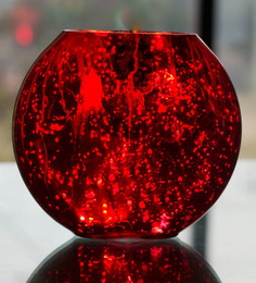Homesake Red Glass Flower Pot