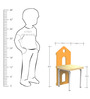 Home Kids Chair in Orange Colour by KuriousKid