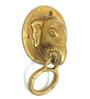Home Sparkle Elephant Face Brass Door Knocker