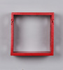 Fireflight Eclectic Wall Shelves Set of 3 in Red by Bohemiana