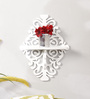 Evermore Eclectic Wall Shelf in White by Bohemiana