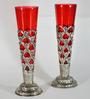 Homesake Silver & Red Brass Flower Vase