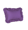 Hothaat Solid Purple King 2Pc Ruffle Pillow Covers