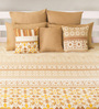 House This Beige 100% Cotton Bed sheet