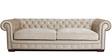Imperial Sofa Set (3+1+1) Seater in Velvet Beige Color by ARRA