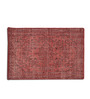 Imperial Knots Red Woolen Vintage Rectangular Hand Knotted Carpet