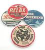 Importwala Relax Multicolour Ceramic Coaster - Set of 4