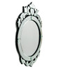 Brasenose Decorative Mirror in Silver by Amberville
