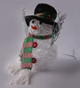 Napier Usb Charging Cable & Battery Operated Snowman Hat Showpiece in Multicolour by Amberville