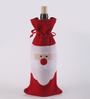Minto Wine Bottle Holder Pouch in Red by Amberville