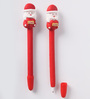 Neville Set Of 2 Christmas Santa Pen in Red by Amberville