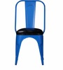 Azul Cushion Metal Chair in Blue Color by Bohemiana