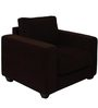 Jordana One Seater Sofa in Saddle Brown Colour by CasaCraft